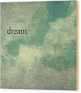 Dream Vintage Sky Pattern Wood Print by Honey Malek