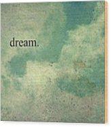 Dream Vintage Sky Pattern Wood Print
