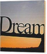 Dreaming At Sunset Wood Print
