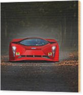 Dreaming In Rosso Corsa... Wood Print