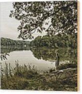 Dreaming Of Fishing At Argyle Lake Wood Print
