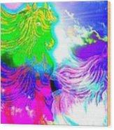 Dreaming Of Rainbow Horses Wood Print