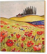Dreaming Of Tuscany Wood Print