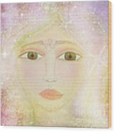 Dreams Of Avalon Tipple Goddess Guinevere  Wood Print by Sacred  Muse