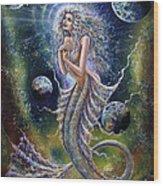 Dreams Of Mermaid Wood Print