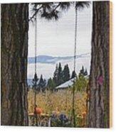 Dreams Of The Swing Wood Print