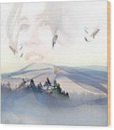 Dreams Soar Wood Print by Lisa Knechtel