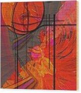 Dreamscape 06 - Tangerine Dream Wood Print by Mimulux patricia no No