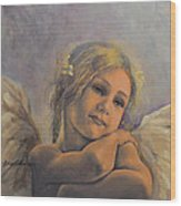 Dreamy Angel Wood Print