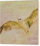 Dreamy Flight Wood Print by Deborah Benoit