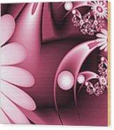 Dreamy Flower Garden Wood Print