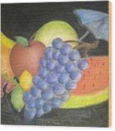 Dreamy Fruit Wood Print