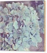 Dreamy Image Of Hydrangea Flower Wood Print