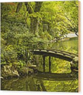 Dreamy Japanese Garden Wood Print by Sebastian Musial
