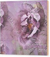 Dreamy Purple Lavender Impressionistic Abstract Floral Art Photography Wood Print