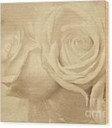 Dreamy Roses Wood Print