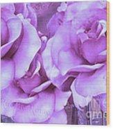 Dreamy Shabby Chic Purple Lavender Paris Roses - Dreamy Lavender Roses Cottage Floral Art Wood Print