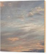 Dreamy Sunset Sky Wood Print