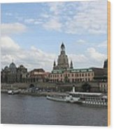 Dresden And River Elbe - Germany Wood Print