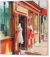 Dress Shop Fells Point Md Wood Print