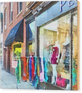 Hoboken Nj Dress Shop Wood Print