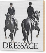 Dressage II Wood Print