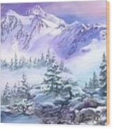 Dressed In White Mount Shuksan Wood Print