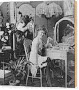 Dressing Room, C1900 Wood Print