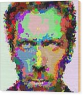 Dr. House Portrait - Abstract Wood Print
