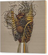 Dried Flowers Wood Print