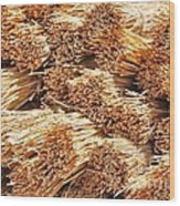 Dried Grass Wood Print