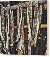 Dried Salmon Wood Print