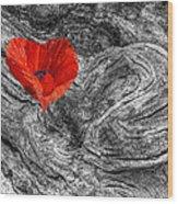 Drifting - Love Merging Wood Print