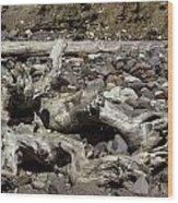 Driftwood Mt. Rainier  Wood Print