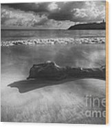 Driftwood On A  Beach Wood Print by George Oze