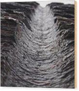Drill Line Wood Print