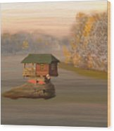 Drina House In Morning Mist Wood Print