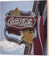 Drink Coca Cola Sign Wood Print