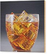 Drink On Ice Wood Print