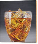Drink On Ice Wood Print by Carlos Caetano