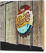 Drink Pepsi Cola Wood Print by Ron Regalado