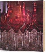 Drink Red Wood Print