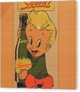 Drink Squirt Sign Wood Print