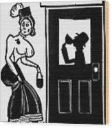 Drinking, C1925 Wood Print
