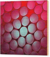 Drinking Straws Wood Print