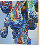 Dripping Lego Paint Wood Print