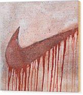 Dripping Nike Wood Print