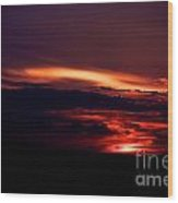 Drive-by Sunset Wood Print
