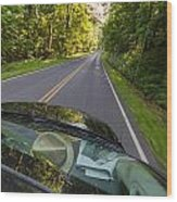 Drive To Vacation Wood Print