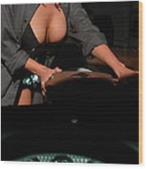 Drivers View Of A Pinup Girl Wood Print